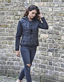 Ladies` Hooded Crossover Jacket